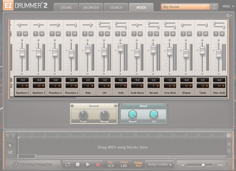 EZ Drummer 2 Editing Output Routing