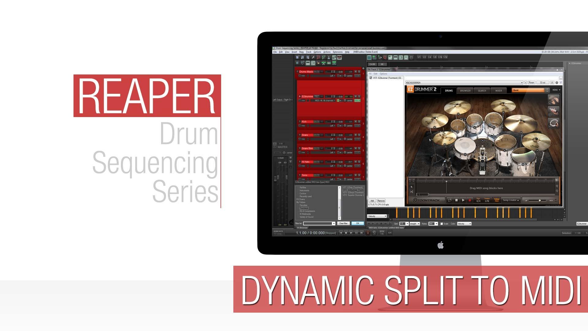 Reaper Tutorial: Dynamic Split to Midi (Drum Replacement) - Reaper TV